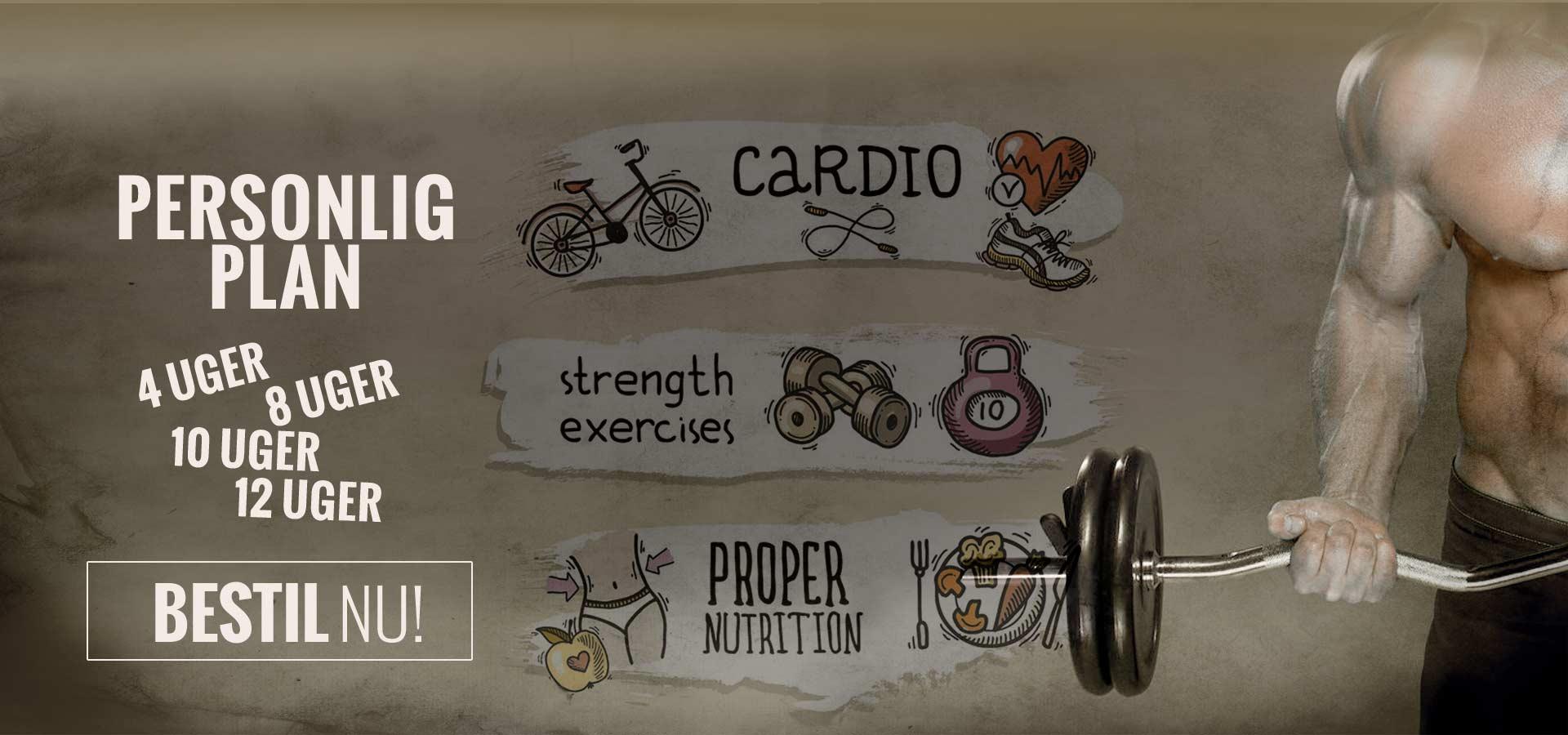 Personlig fitness plan - 4 - 12 uger